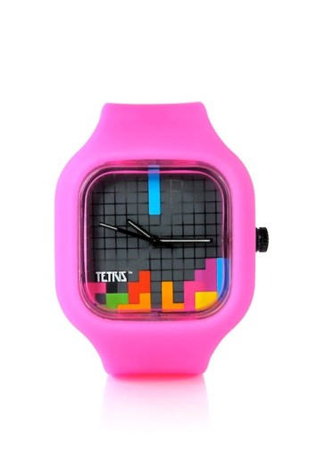 Tetris with pink strap MODIFY geek chic FashionDailyMag