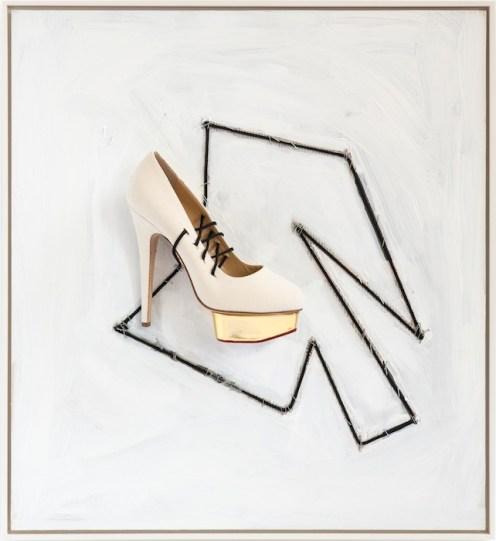 'Soft Shoe', 2014, Richard Prince, Charlotte Olympia for Stepping Up For Art. Photographer Eric Kaczmarczyk