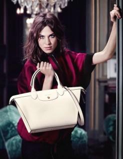 ALEXA CHUNG longchamp ad campain fall FashionDailyMag sel 3