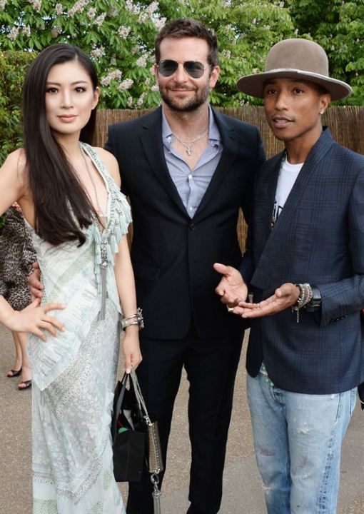 REBECCA WANG with bradley cooper pharrell williams serpentine fashiondailymag