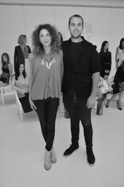 brigitte segura with mathieu mirano at ss15 presentation fashiondailymag
