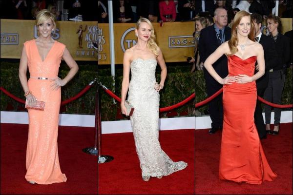 SAG Awards 2013 Red Carpet fashion