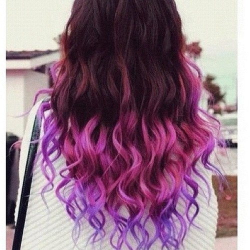 Coloured Hair Roots Ombre Hair Coloring