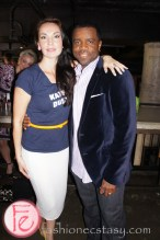 Inga Cadranel (Aife or Saskia in Lost Girl and Detective Angela Deangelis in Orphan Black) and Kevin Hanchard ( Detective Art Bell in Orphan Black) at Mingle for a Mission