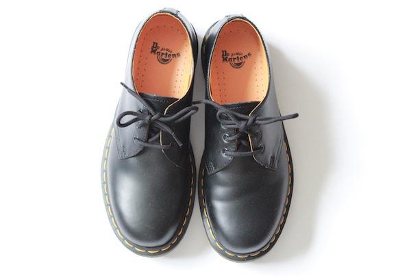 black leather dr martens shoes
