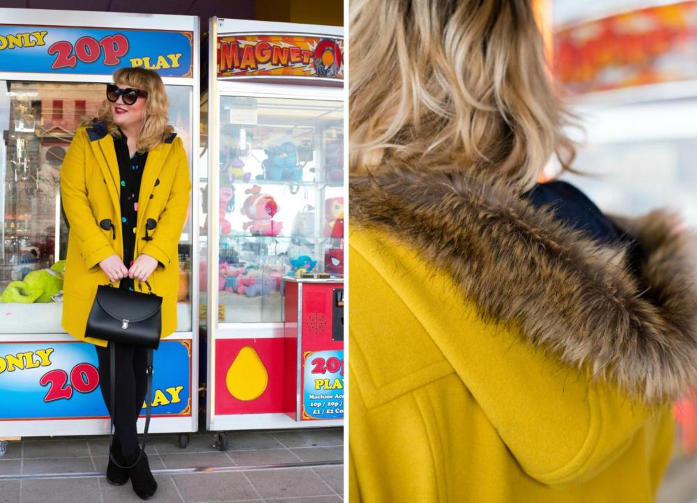 Ootd want to bet on that fashion for lunch for Boden yellow coat