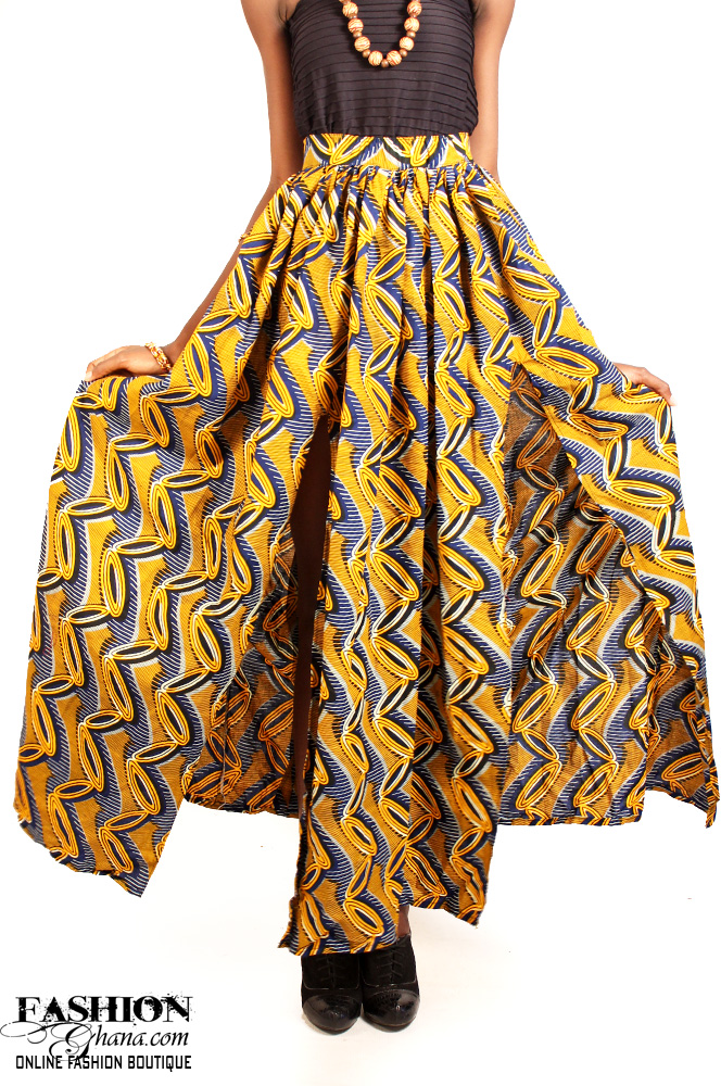 Bulk Jewelry To Sell African Print Double Slit Skirt Fashionghana 100
