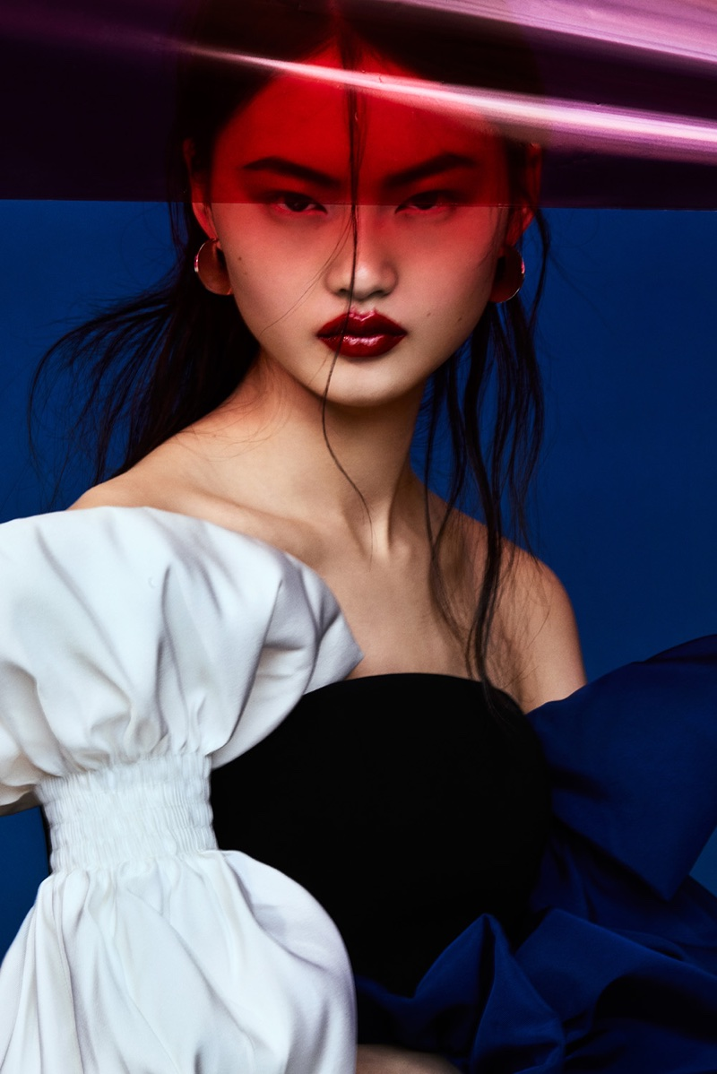 Lipstick Color Is Red He Cong Vogue Taiwan Red Lipstick Beauty Editorial