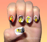 20 Cute Cartoon Inspired Nail Art Designs | Fashionisers