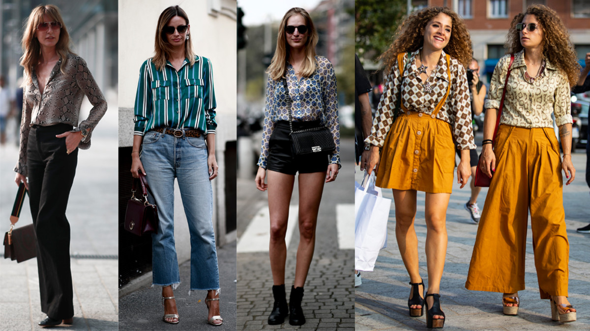 1 Style The Street Style Crowd Wore Printed Button-down Shirts On