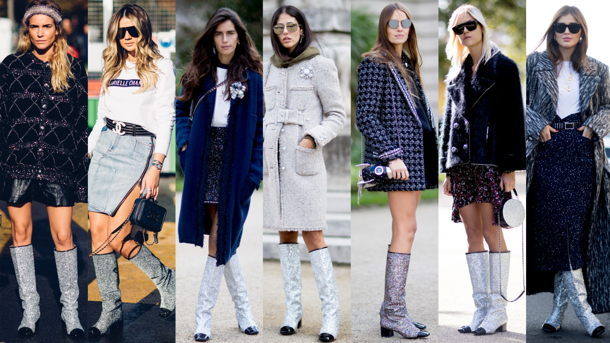 Chanel Glitter Boots Stole The Show On The Final Day Of
