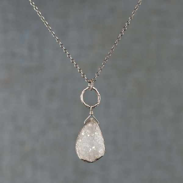 Quartz Druzy Necklace