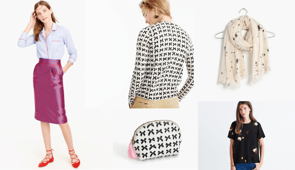 my favorite prints and patterns at J Crew and Madewell.