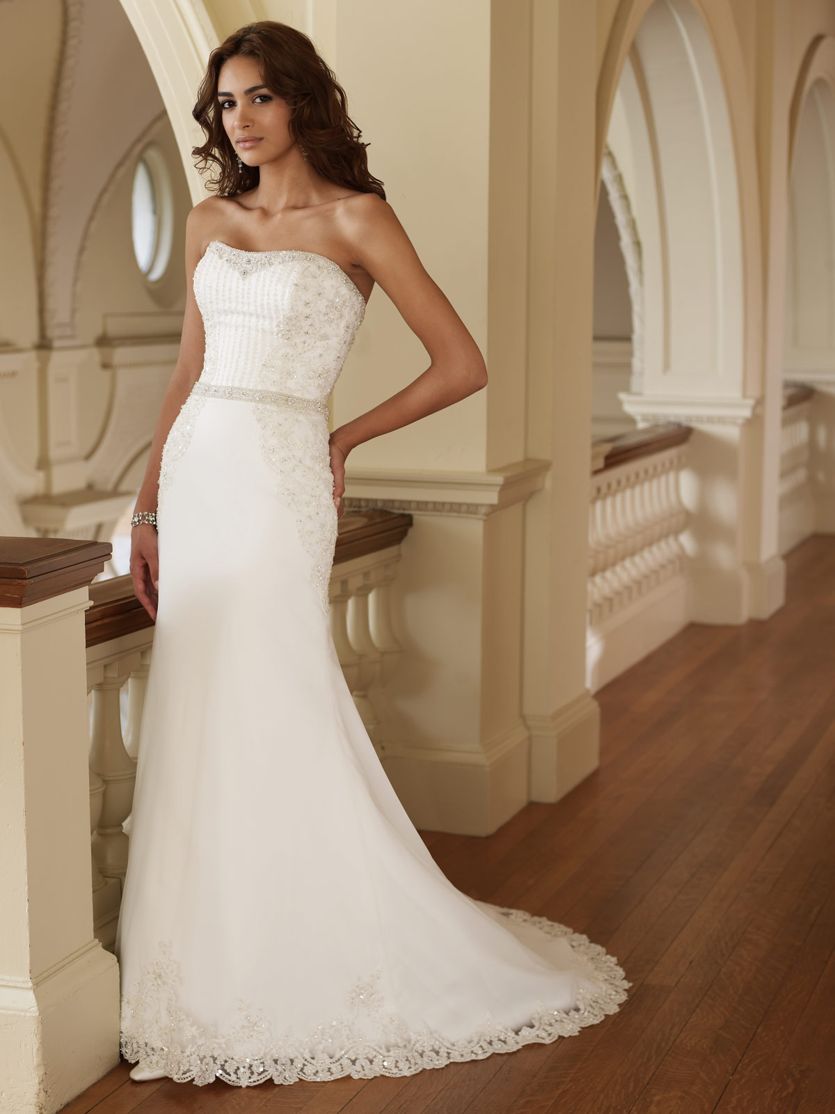 Fitted Beach Casual Wedding Dress