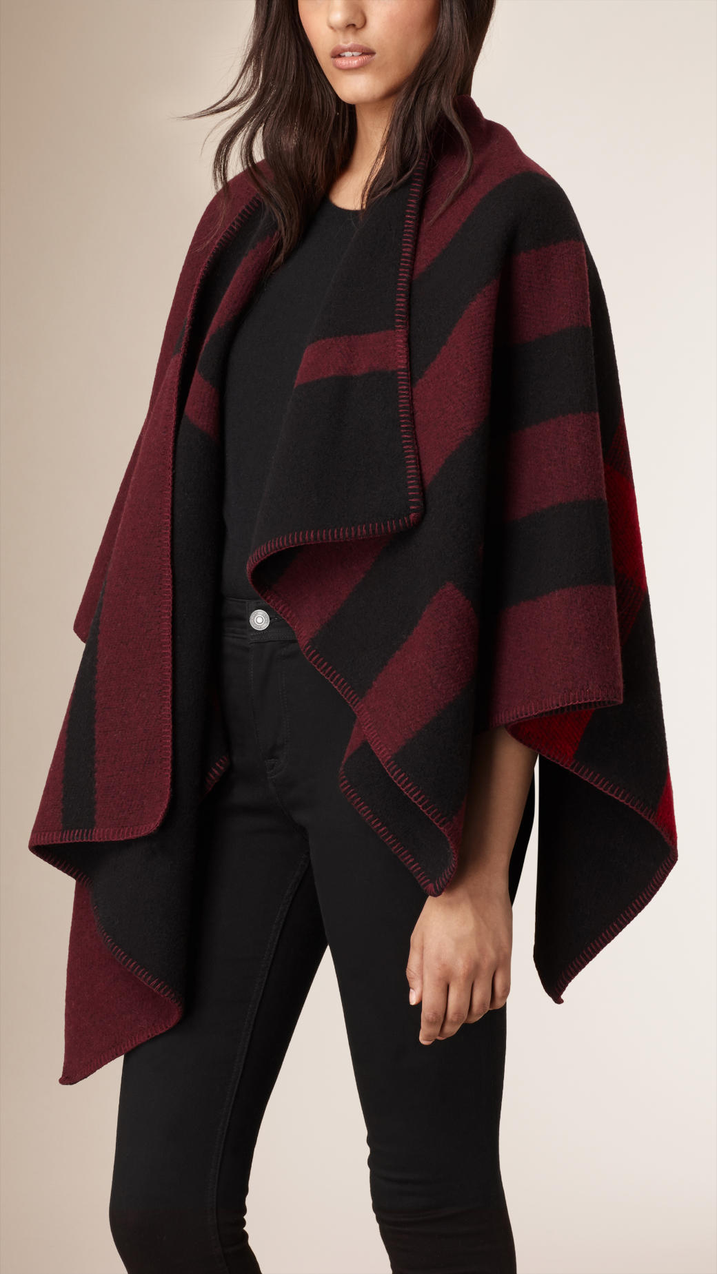 burberry-check-woold-oxblood-cape-poncho