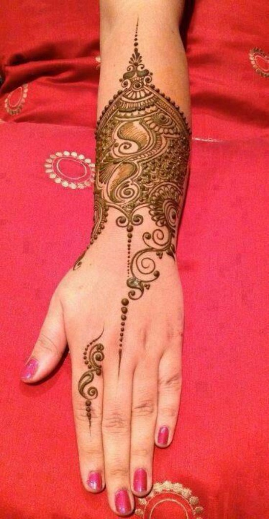 Beautiful Mehndi designs for bridal (9)