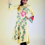 Grapes Flower Print kurta collection 2013-2014 for girls and women (4)