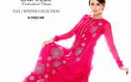 Bareeze Classic Embroidered Women Winter Collection 2013-2014