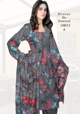 Dawood Textile Brasso Printed Outfits 2014 For Women(4)