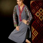 Khaadi Unstitched Winter Dress Collection Fashion 2014