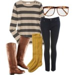 Voguish Polyvore Winter Accessories with watches, long shoes winter wool dresses