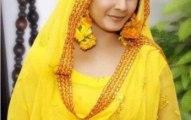 Bridal Mehndi Wedding Waleema Multi Colored Dresses 2014 (10)