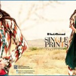 Gul Ahmed Fashion Single Prints Girls fall winter collection