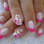 Patels Flower Nail Designs For Christmas Day (7)