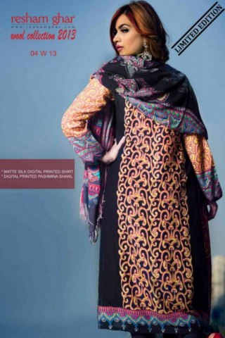 Resham Ghar Winter Wool Dress Collection 2013-14 For Ladies (4)