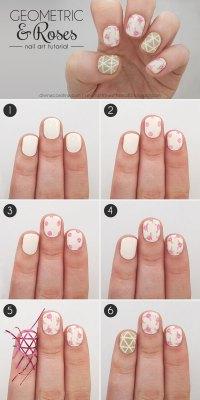 16 Interesting Nail Tutorials For Short Nails - fashionsy.com