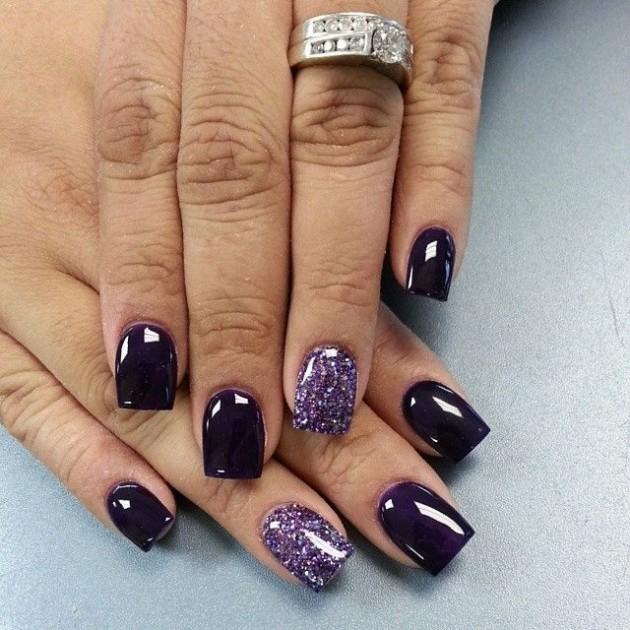 Fall Nail Trend - Dark Purple Nail Designs - fashionsy