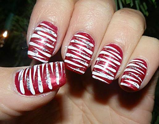 Fun And Easy Christmas Candy Cane Nail Designs Fashionsycom