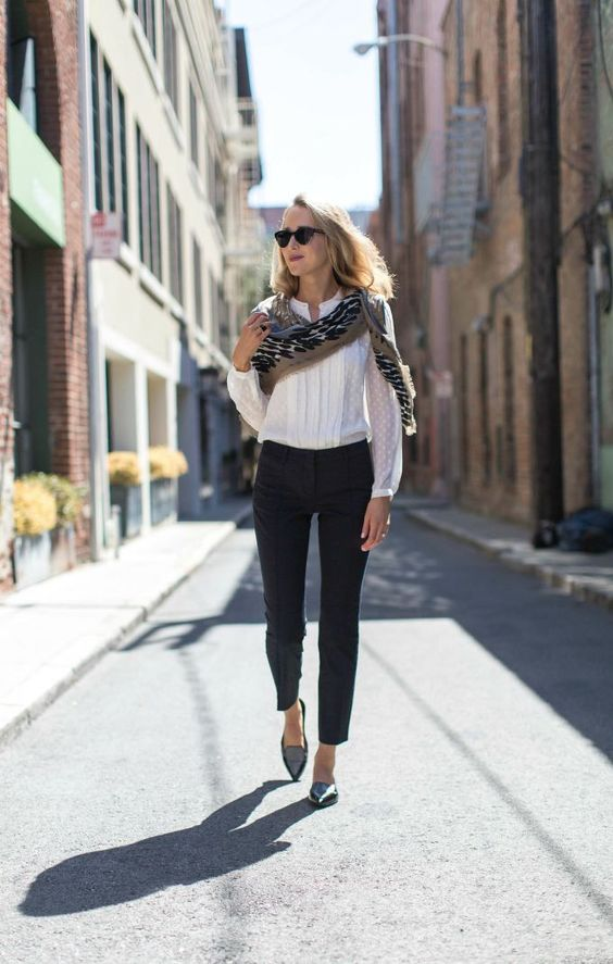 Business Casual Outfit Damen Chic And Trendy Outfits With Pointy Flats - Fashionsy.com