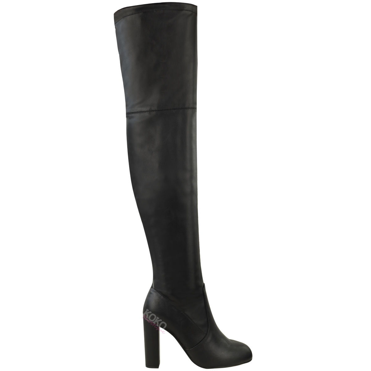Womens Ladies Over The Knee Boots Suede Shoes High Heel