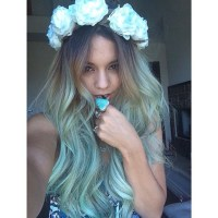 Vanessa Hudgens Dyes Her Hair Bold Blue Color