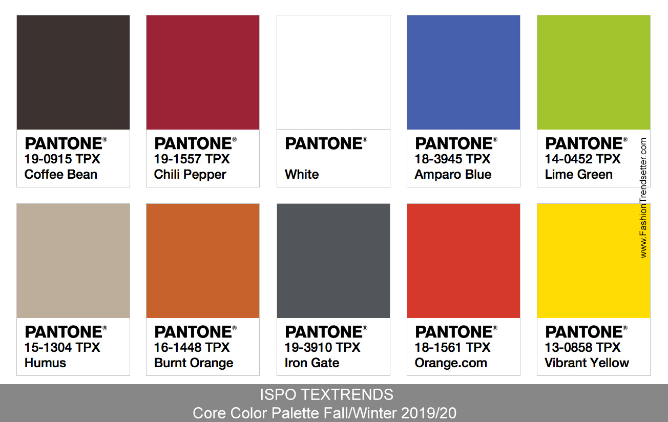 Color Trends Fall 2018 Ispo Textrends Color Trends Fall Winter 2019 20 Fashion Trendsetter