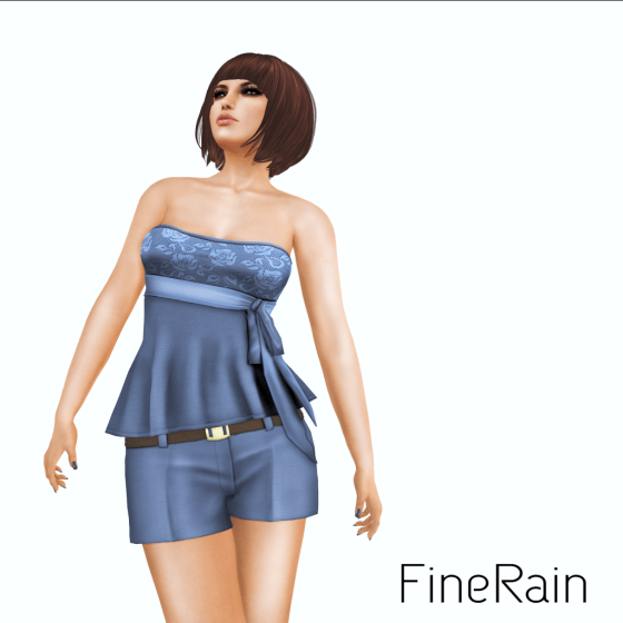 __ FineRain creations.__Top & Short