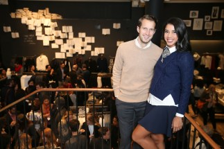 Banana Republic Celebrates Holiday with Hannah Bronfman and Brendan Fallis in NYC