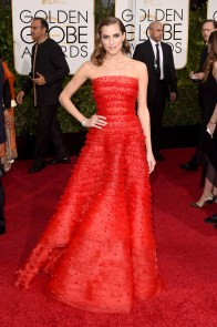 Allison Williams in Giorgio Armani