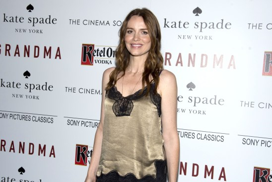 "Saffron Burrows==The Cinema Society and Kate Spade host a screening of Sony Pictures Classics ""Grandma""==Landmark Sunshine Cinema, NYC==August 18, 2015==©Patrick McMullan==Photo - Clint Spaulding/PatrickMcMullan.com===="