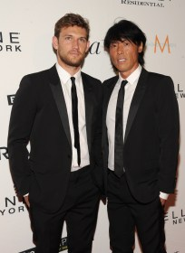NEW YORK, NY - SEPTEMBER 10: Alex Pettyfer (L) and Foundero Fashion Media Group LLC Stephen Gan attend The Daily Front Row's Third Annual Fashion Media Awards at the Park Hyatt New York on September 10, 2015 in New York City. (Photo by Rommel Demano/Getty Images for The Daily Front Row)
