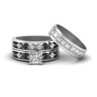15 Ideas of Black Diamond Wedding Rings For Her