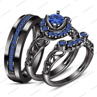 15 Best Ideas of Blue Diamond Wedding Rings Sets