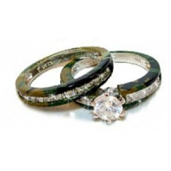 Small Of Camo Wedding Rings
