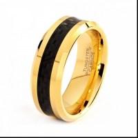 Black Gold Wedding Rings For Men - Wedding Rings