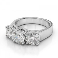 15 Best Ideas of 3 Stone Platinum Engagement Rings