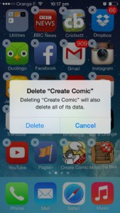 uninstall delete apps in iphone