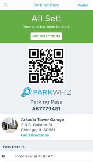 How to use Parkwhiz app