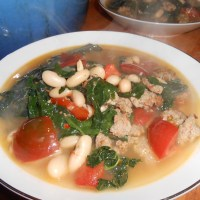 My favorite soup-  Sausage and Kale!