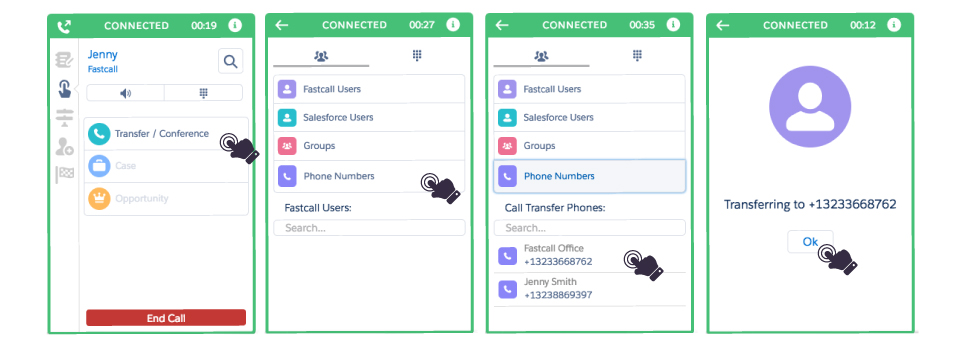 Fastcall - Call Transfer and Listen-In Capabilities